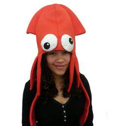 Amazon.com: Plush Ninja Squid Hat: Clothing Under The Sea Costumes, Crazy Hats, Ninja, Sims, Plush, Amazon, Funny, Party, Clothing