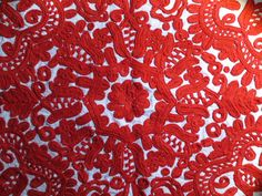 Craft Crush: Hungarian Embroidery – crafteurope love the bold red and white embroidery and nature inspired design