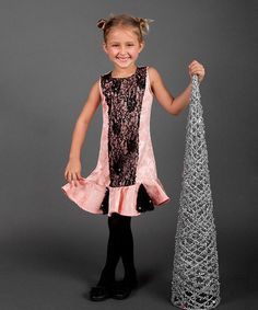 Look what I found on #zulily! Pink & Black Flared Dress - Toddler & Girls by Mia Belle Baby #zulilyfinds