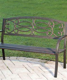 Bronze Scrolling Knot Garden Bench #zulilyfinds. Metal Garden BenchesOutdoor  FunOutdoor ...