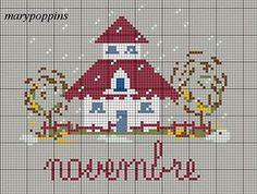 Cross stitch *♥* Point de croix Novembre.