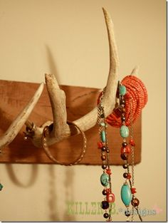 antler jewelry holder and other great ideas