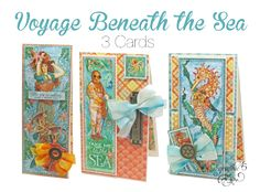 Make 3 Voyage Beneath the Sea cards! #graphic45
