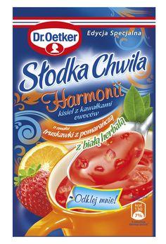 Słodka Chwila Harmonii - kisiel z kawałkami owoców o smaku truskawki z pomarańczą