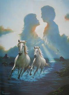Together Again * Artist Jim Warren Fantasy Myth Mythical Mystical Legend Whimsy Hidden Surreal Nature