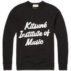 ac8bf1d0 Maison Kitsuné K.I.M Crew Sweat (Black) Maison Kitsune, Slogan, Tee Shirts,