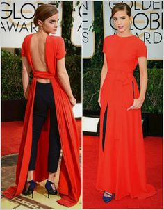 Emma Watson at the golden globes, I loved this dress.