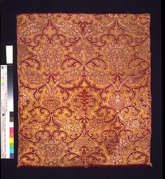Panel  Date: mid to late 16th century Culture: Italian or Spanish Medium: Silk; metal; linen Dimensions: 25 3/4 x 23 1/2 in. (65.4 x 59.7 cm) with selvages opened flat