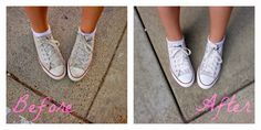 How to Clean White Canvas Shoes - including Converse, VANS, TOMS, and any other sneakers in need of some TLC
