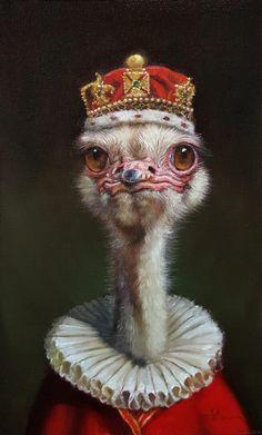 Your Highness by Lucia Heffernan Custom Dog Portraits, Pet Portraits, Bird Artwork, Wow Art, Gif Animé, Tier Fotos, Animal Heads, Surreal Art, Art Sketchbook