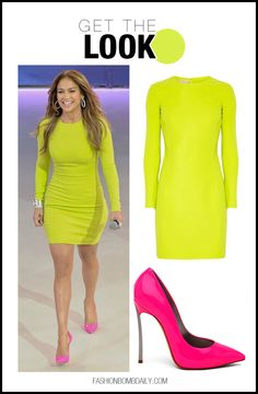 Cute neon look for JLo!