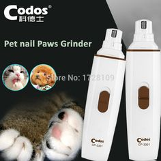 Professional Codos CP3301 Dog Electric Claw Nail Grooming Tool Pet nail Paws Grinder Clipper Auto Pedicure Devices For Dogs&Cats