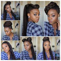 Styling Box Braids 7 Ways [Video] - http://community.blackhairinformation.com/video-gallery/braids-and-twists-videos/styling-box-braids-7-ways-video/