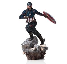 "MARVEL GENTLE GIANT 5/"" CAPTAIN AMERICA STATUE LIMITED EDITION 75TH ANNIVERSARY"