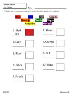 Family words #spanishworksheets #classroomiq #newteachers ...