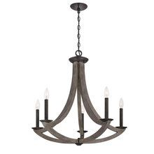 View the Eurofase Lighting 25587 Arcata 5 Light Single Tier Wooden Chandelier at LightingDirect.com.