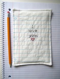 i love you - that is so cute. I would love one of these