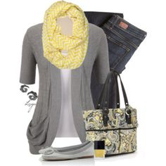 Yellow and Gray for Spring!