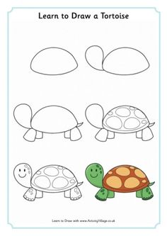 Learn to Draw Animals animals background iphone wallpaper iphone animal drawings Easy Animal Drawings, Easy Drawings For Kids, Pencil Art Drawings, Doodle Drawings, Draw Animals For Kids, Art For Kids, Tortoise Drawing, Doodle Art For Beginners, Drawing Lessons For Kids