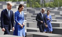 The Duke and Duchess of Cambridge today visited the Memorial to the Murdered Jews of Europe, in the centre of Berlin, which pays tribute to the six million Jews who died during the Holocaust.