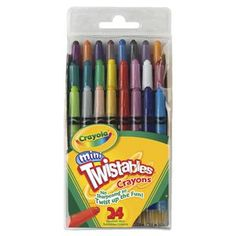 Mini Twistables Crayons and thousands more of the very best toys at Fat Brain Toys. Crayola® Mini Twistables are a fun new size and provides more color variety with 24 different colors! Each crayon is a unique plast. Indoor Games For Adults, Indoor Activities For Kids, Twistable Crayons, Crayon Set, Tools For Sale, Craft Shop, School Supplies, Craft Supplies, Colored Pencils