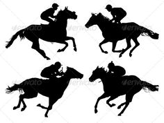 Stock Vector - GraphicRiver Horse Racing Silhouette 5429275 » Dondrup.com