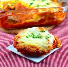 Easy Eggplant Parmesan - this was a great recipe, my husband and I both loved it