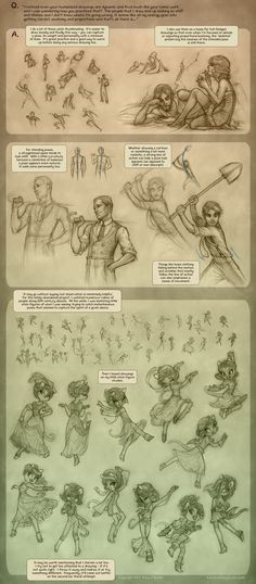 The art of poses: How to go from stick figures to detailed art according to Lackadaisy.