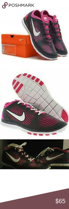 Nike Free Balanza Athletic Shoes Like new women's Nike Free Balanza running shoes in prestine condition; worn twice!   Barefoot, minimalistic feel that is breathable, flexible, and provide great traction. They fit well and true to size - very light!   Style: Running, Cross training  Color: Armory slate and atomic pink Size: Women's 10 Nike Shoes Sneakers