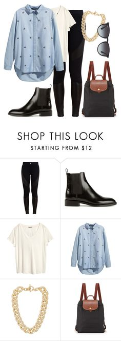 """Untitled #424"" by simplebutmee ❤ liked on Polyvore featuring Givenchy, Yves Saint Laurent, H&M, Michael Kors, Longchamp and Ray-Ban"
