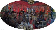 Le Grand Teddy (pinturas do Salão de chá) - Edouard Vuillard   As pinturas dos grandes salões de chá Teddy são um nome coletivo para três pinturas ovais de colagem executadas por Edouard Vuillard para os salões de Le Grand Teddy em Paris em 1918.   O maior é de propriedade privada, mas às vezes é exibido.