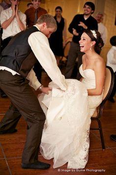 Wedding Traditions The Garter Toss