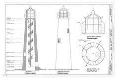 plan, elevation, section - Cape Saint George Lighthouse, Cape St. George , Apalachicola, Franklin County, FL