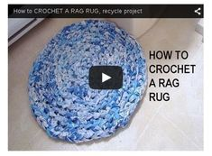 Crochet a Rag Rug Out of Old Sheets: Video #HomemadeRugs