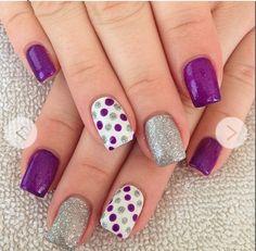 30 Adorable Polka Dots Nail Designs More Polka Dots, Nails Art, Purple, Nails… Dot Nail Designs, Simple Nail Art Designs, Nail Polish Designs, Nails Design, Crazy Nail Designs, Purple Nail Designs, Pedicure Designs, Nail Designs Summer Easy, Gel Pedicure