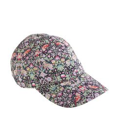 Want it too bad!  Liberty baseball cap in strawberry thief floral - scarves & hats - Women's accessories - J.Crew