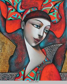 Wlad Safronow - From his Secession Series of Paintings: title for this is 'Beatrice'  Size: 60 x 50 ✿≻⊰❤⊱≺✿