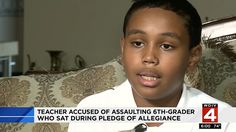 Everybody is all about freedom of speech and expression until a black person (hey, Colin Kaepernick; hey, Jemele Hill) decides to exercise his or her right to do so. And in this particular case, a black sixth-grader out of Michigan says he was assaulted by his homeroom teacher all because he was exercising his rights and declined to stand for the Pledge of Allegiance.
