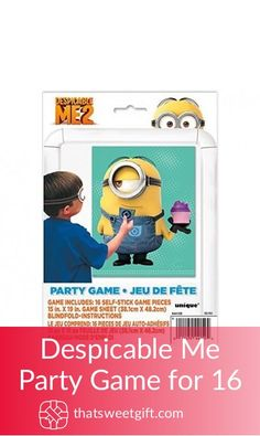 Despicable Me Party Game for 16 I Party, Party Games, Despicable Me Party, Gamer Gifts, Game Pieces, Geek Stuff, Amazon, Game Party, Gaming