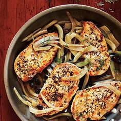 chicken with Italian sweet sour fennel