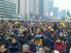 """""""Let's Get Park Out in February!"""" 14th Candlelit Protest in South Korea    코리일보   CoreeILBO"""