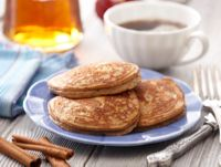 Spiced Pancakes from www.pureresults.tsfl.com - So yummy! You can even mix it with blueberry muffin in a big soup size mug, microwave it for 2.5 minutes and then cut in half (makes 2 meals). I have it every morning with my cup of coffee.