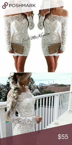 🔥 SM-L!! White Lace Dress My favorite lace dress!! Now available for you to purchase. 💟SAME DAY SHIPPING!! Side zipper. Stretchy waist band. I am 32 25/26 35 and fit a M. Brand for exposure only For Love and Lemons Dresses