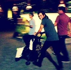 Harry pushing Lux