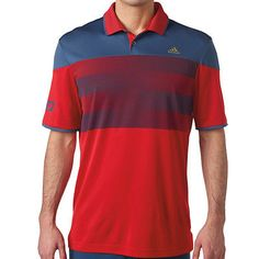 2016 Adidas ClimaChill USA American Stripe Golf Polo NEW