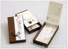 Invitación de boda - CAJA CON FLORECITAS Y CALENDARIO
