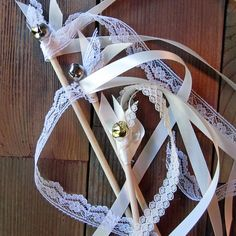 Wedding Wands Ivory and White (Pack of 12)