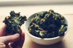 Coconut Curry Kale Chips-dressing for these chips sounds heavenly with uses other than just kale!