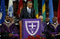 President Obama delivered the eulogy at the funeral of the Rev. Clementa C. Pinckney, who was one of nine people killed last week during an attack inside the Emanuel A.M.E. Church in Charleston, S.C.