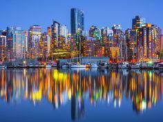 Vancouver Marina and City Skyline, British Columbia